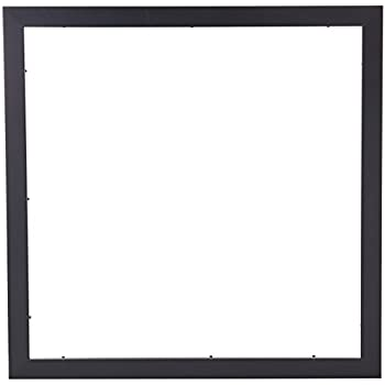Amazon.com - ArtToFrames 20x20 inch Satin Black Picture Frame ...