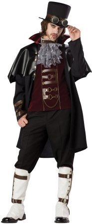 Adult Transylvania Vampire Costumes (Steampunk Vampire Costume - Mens Medium)