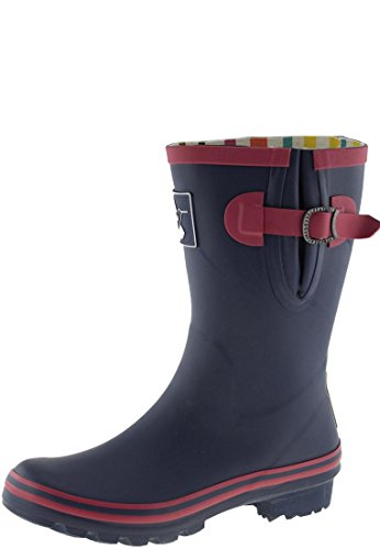 Evercreatures Ladies Knee Rubber Wellies Raspnavy Red Trimming - Various Sizes