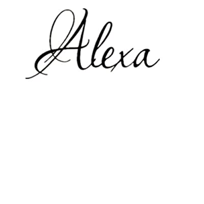 HUANYI Alexa Girl Name boy Name Room Name Wall Quote Art Vinyl Decal Sticker: Home & Kitchen