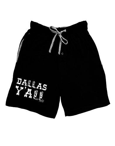 TooLoud Dallas Y'all - Boots - Texas Pride Adult Lounge Shorts - Black- XL (Dallas Cowboys Shorts)