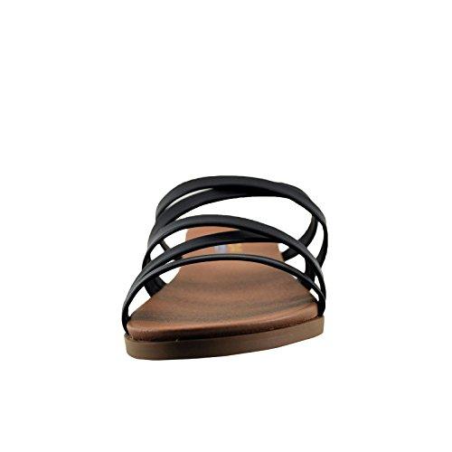 Toe Criss Women's Cross Theta Open Soda Sandals Black nTXv46E