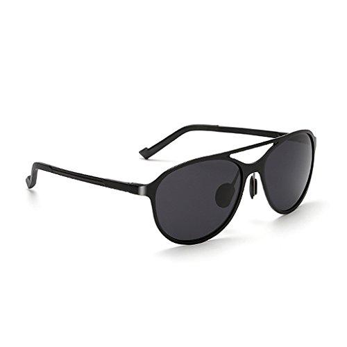 protección magnesio sol Hombres polarizadas conducción anti de de aluminio de de Lentes fish Gafas 400 y al sol gafas libre UV black aire UV 0wzqdpyIx