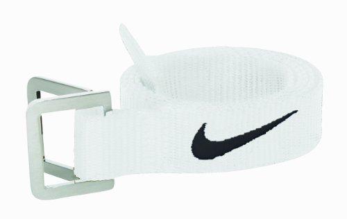 Nike Football Belt (White/Black, Osfm) (Nike Belt Football)