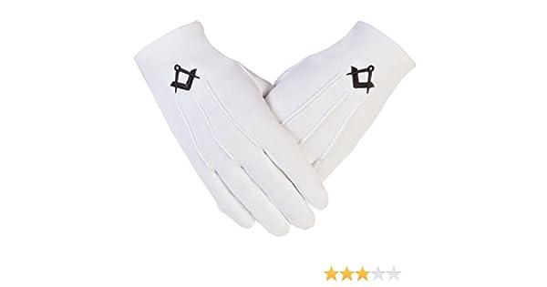 Gloves4masons Freemason masónico guantes de algodón PCI en negro S & C símbolo: Amazon.es: Ropa y accesorios
