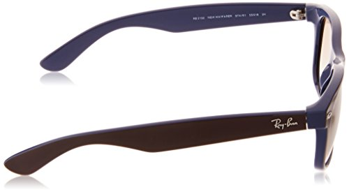 Ray-Ban-NEW-WAYFARER-TOP-BROWN-ON-BLUE-Frame-CRYSTAL-BROWN-GRADIENT-Lenses-55mm-Non-Polarized