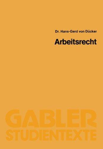 Arbeitsrecht Taschenbuch – 1. Januar 1983 Hans-Gerd ? Von? Dücker Springer 3409001263 Handels- und Wirtschaftsrecht