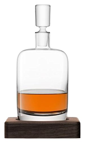 LSA International Whisky Renfrew Decanter, 37.2 fl. oz., Clear/Walnut by LSA International