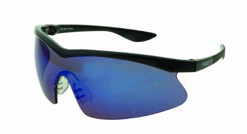 Precision Safety PY70BKBM Power Spec Eyewear, Black Frame, Blue Mirrored - Power Frame Specs