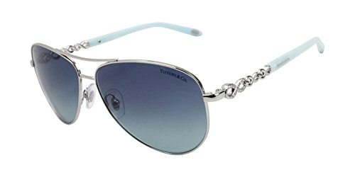 66dd5ffcd42a Tiffany TF3049B 6001-9S Silver TF3049B Pilot Sunglasses Lens Category 2  Size 58