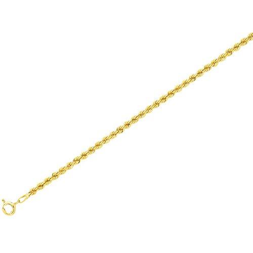 Ysora - Bracelet Avec Mailles Cordes - 750 ‰ - 18cm - 3mm 1.60g