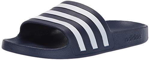 adidas Women's Adilette Aqua, Dark Blue/White/Dark Blue, 9 M US