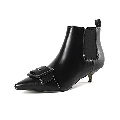 Black Lsm à Bottines pour Femmes Pointu Bottes Bout Courtes z8wrtxU8qH