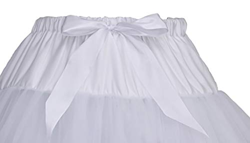 Nevera Women Soft Puffy Tulle Petticoat Costume Ballet Dance Short Tutu Skirts Multi-Layer -