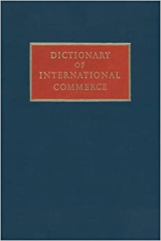 Book Dictionary of International Commerce