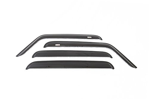 Jeep Window Deflectors - Rugged Ridge 11351.12 Smoked Acrylic Front and Rear Window Rain Deflectors for 2007-2018 Jeep Wrangler Unlimited JKU Models