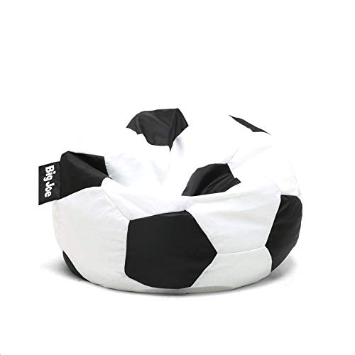 Black White Soccer Ball Bean Bag Sports Pattern Beanbag Chair Football Design Sofa Sack Football Fans Lover Plush Comfortable Indoor/Outdoor Dual Zipper Lightweight Polystyrene Beads Filled, ()