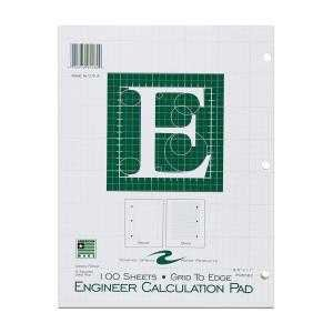 Bulk Engineering Pads, 5x5 Grid, 8.5''x11'', Green Paper, 100 Sheets: Roaring Spring 95582 (48 Engineering Graph Pads) by Roaring Spring
