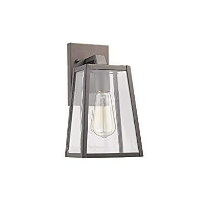 """Chloe Lighting CH822034RB11-OD1 Transitional 1 Light Rubbed Bronze Outdoor Wall Sconce 11"""" Height, Oil Rubbed Bronze"""