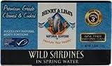 Henry & Lisa's Natural Seafood Wild Sardines in Spring Water -- 4.25 oz