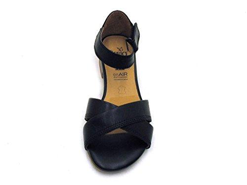 Caprice - Sandalias de vestir de cuero para mujer negro - negro