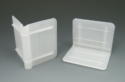 2'' x 2'' x 2-1/2'' Plastic Edge Protector - White (1000 Protectors) - AB-230-1-03 by Miller Supply Inc (Image #1)