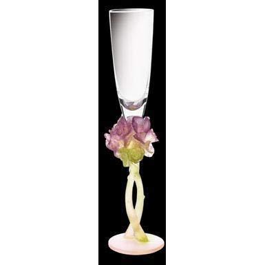 Daum Crystal Roses Champagne Flute