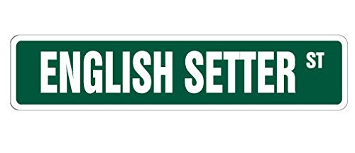 Cortan360 ENGLISH SETTER Street Sign Childrens Name Room Sign| Indoor/Outdoor | 8