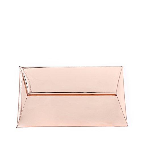 Me Plus Evening Handbag Clutch Wedding Cocktail Party Bag Metallic Envelope Clutch