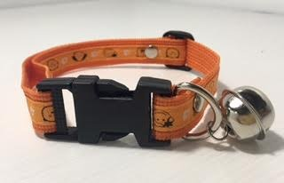 Dog Collar , Adjustable, side release buckle, Nylon Orange color for Medium and Large Size (Easy Halloween Costumes For Guys)