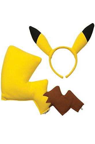 [Pikachu 2 Piece Costume Accessory Kit] (Pikachu Ears And Tail Costume)