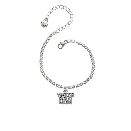 Silvertone Water Polo Mom - Charm Bracelet, 8