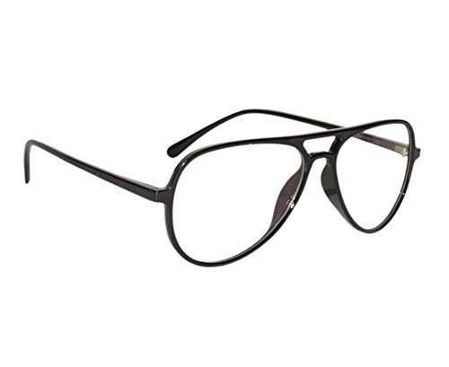 131ff75b9c Peter Jones Retro Black Aviator Unisex Optical Frame (2788B)  Amazon.in   Clothing   Accessories