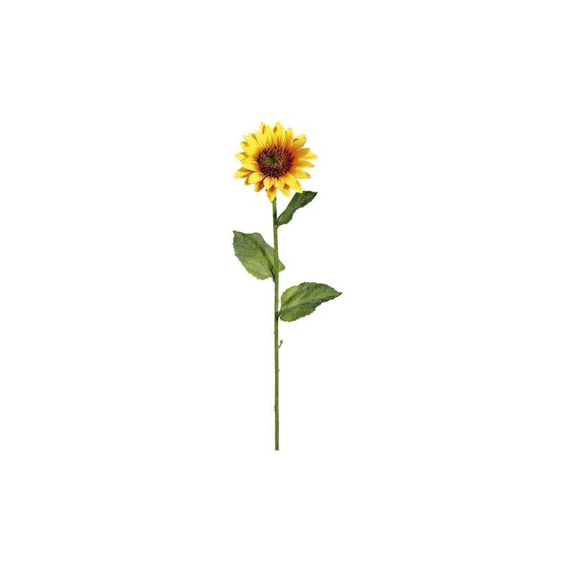 "silk flower arrangements 23"" sunflower spray x1 yellow gold (pack of 12)"