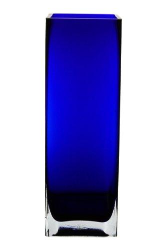 Amazon Square Vase Cobalt Blue Glass H 12 Open 4 X 4 6