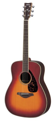 (Yamaha FG730S Solid Top Acoustic Guitar - Rosewood, Vintage Cherry Sunburst )