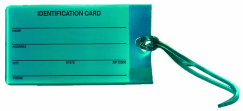 Travel Smart by Conair Jelly Luggage Tag ~ 2Pack; Teal