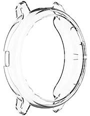 حافظة سامسونج جالاكسي ووتش أكتيف 2 44 مم لينة TPU إطار حماية شفاف مقاوم للصدمات والخدش غطاء واقي ممتص للصدمات