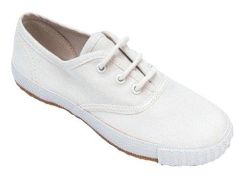 Childerns Unisex Mirak 204/ASG14 Lace-Up Plimsolls Shoes Kids Textile Footwear fbBBEw
