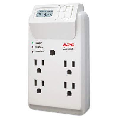 APC Power-Saving Timer Essential SurgeArrest Surge Protector, 4 Outlets, 1020 J