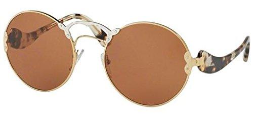 Prada Women's PR 55TS Sunglasses Pale Gold/Silver/Violet ()