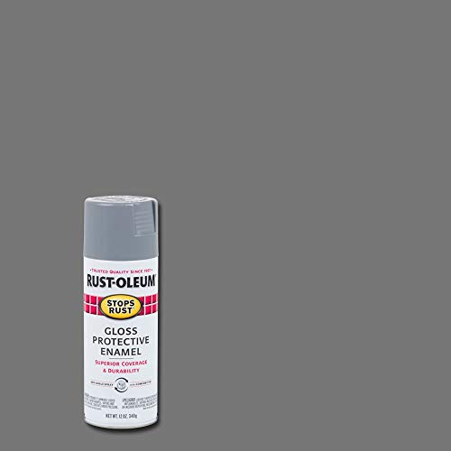(Rust-Oleum 7786830 Gloss Smoke Gray Stops Rust Spray Paint, Enamel, 12 fl. oz. Aerosol Can (Pack of)