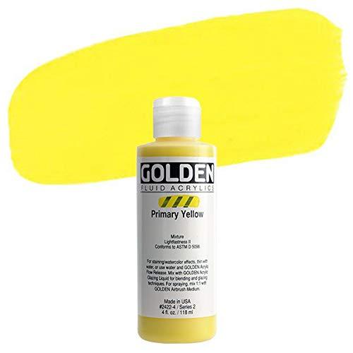 Golden Fluid Acrylics - Primary Yellow - 4 oz Bottle