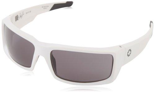 Spy Optics General Matte White - Grey Wrap Sunglasses