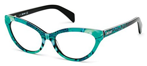 Just Cavalli - JC0716, Cat Eye, acetate, women, BLACK SPOTTED AQUAMARINE FLOWER FANTASY(098 J), 54/16/145 (Just Cavalli Glasses)