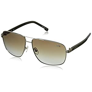 Lacoste Men's L162S Aviator Sunglasses, Gold, 61 mm