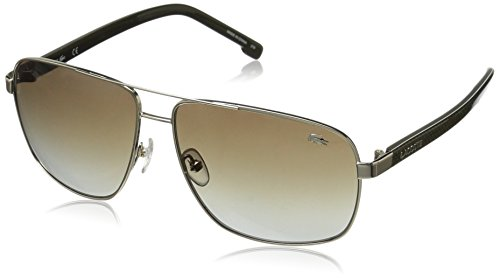 Lacoste Men's L162S Aviator Sunglasses, Gold, 61 - Aviators Lacoste