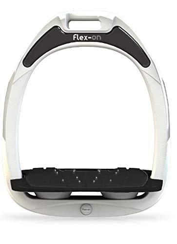 【 限定】フレクソン(Flex-On) 鐙 ガンマセーフオン GAMME SAFE-ON Mixed ultra-grip フレームカラー: ホワイト フットベッドカラー: ブラック エラストマー: グレー 06142   B07KMNDR8R