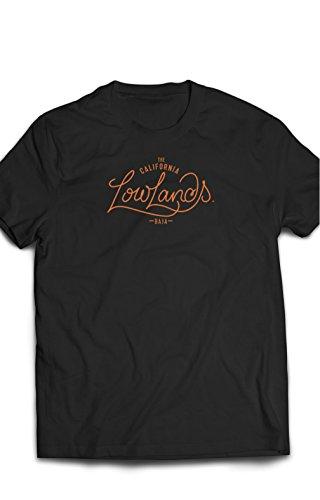 Eron Apparel Baja Biker Series Lowlands Shirt Men Tees, Black, Size Large