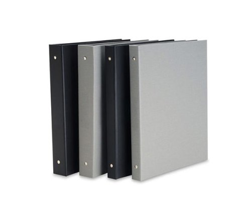 "Pina Zangaro Bex 1"" 3-Ring Binder, No Cardholder, Gray, 11x8.5"" Format"
